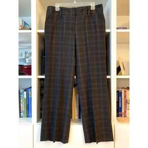 Sharagano black plaid pants, size 10